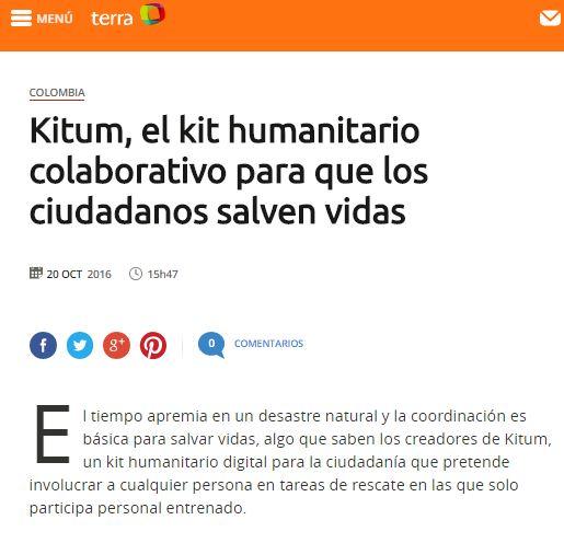 Kitum, el kit humanitario colaborativo para que los ciudadanos salven vidas (Agencia EFE)