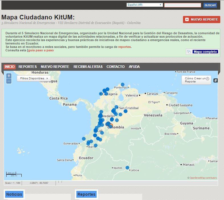 Ayúdanos a mapear el Simulacro Nacional de Respuesta a Emergencias – Octubre 24 de 2018